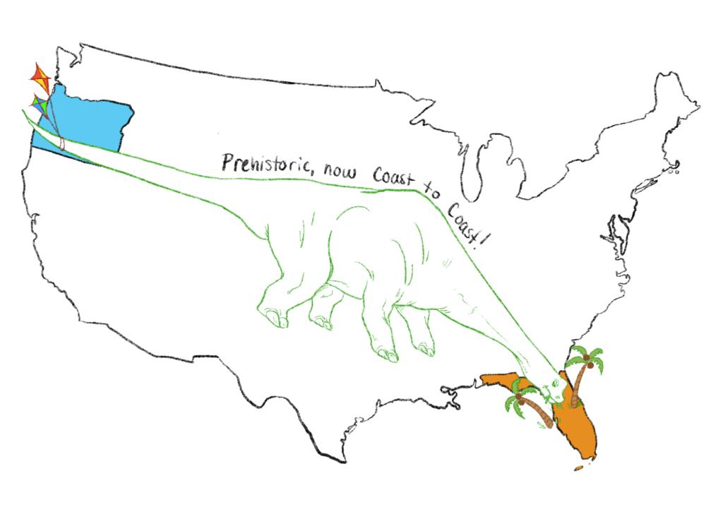 Prehistoric is coast to coast